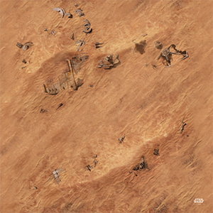 Star Wars Legion: Jakku Game Mat