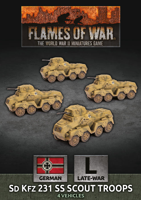 Flames of War: Sd Kfz 231 SS Scout Troops (GBX154)