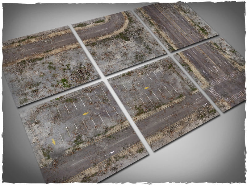 Gaming Mat - Walking Dead City Tiles (Deep-Cut Studio)