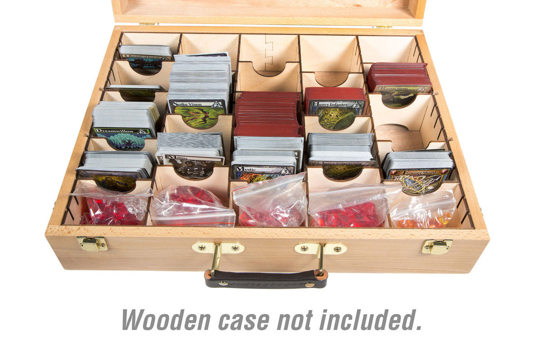 Wooden Artist Case - Compatible with standard-sized card games (Broken Token) (WAC-BO2)