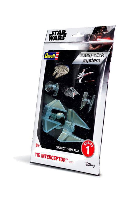 Star Wars Level 2 Easy-Click Snap Model Kit Series 1 TIE Interceptor