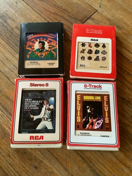 ELVIS PRESLEY LOT OF 4 RCA RECORDS 8-TRACK TAPE
