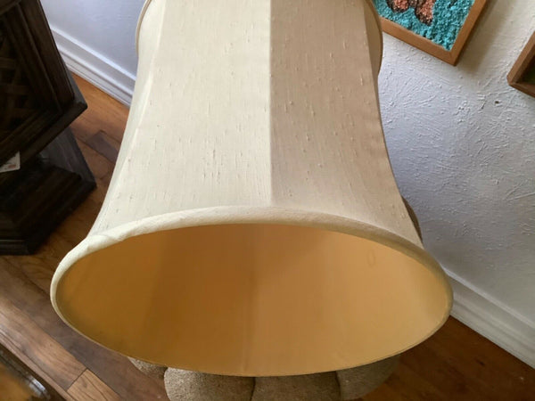 Vtg Mid Century Retro Modern mcm Large Drum Table Lamp Shade