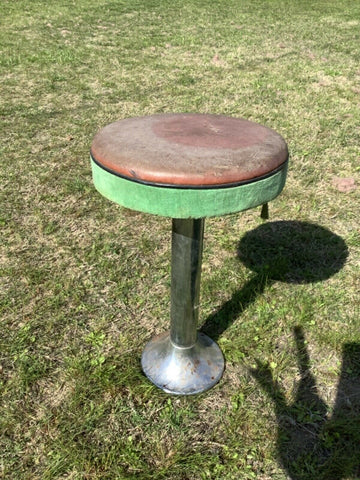 VINTAGE  antique SODA FOUNTAIN/ICE CREAM PARLOR BAR STOOL -  ART DECO