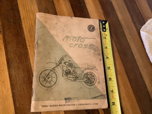 1970's 1971 Motorcycle Motocross Service Manual Parts Catalog Book 250cc 400cc
