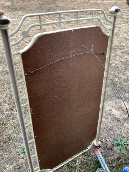 Vintage Metal Wall mirror dresser Ornate French Provincial mid century modern