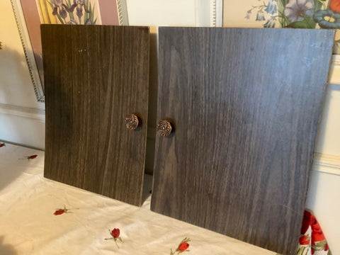 Vtg Mid-Century Modern Record Vinyl LP Cabinet Chest replacement sliding doors