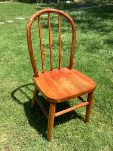 Antique Vintage Oak Childrens child Chair Oak Wood Chippy Paint Farmhouse