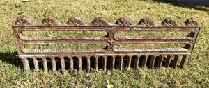 Vintage Antique 1800'S Cast Iron Fireplace Grate Insert Log Holder basket