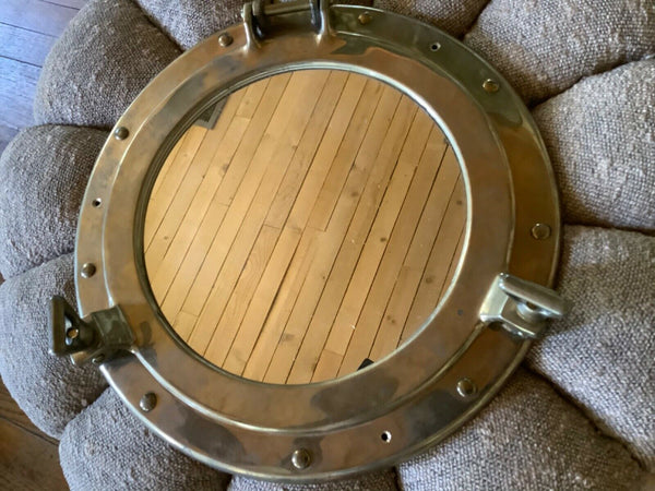 PENCO ship PORT HOLE MIRROR Vintage Porthole Solid Brass