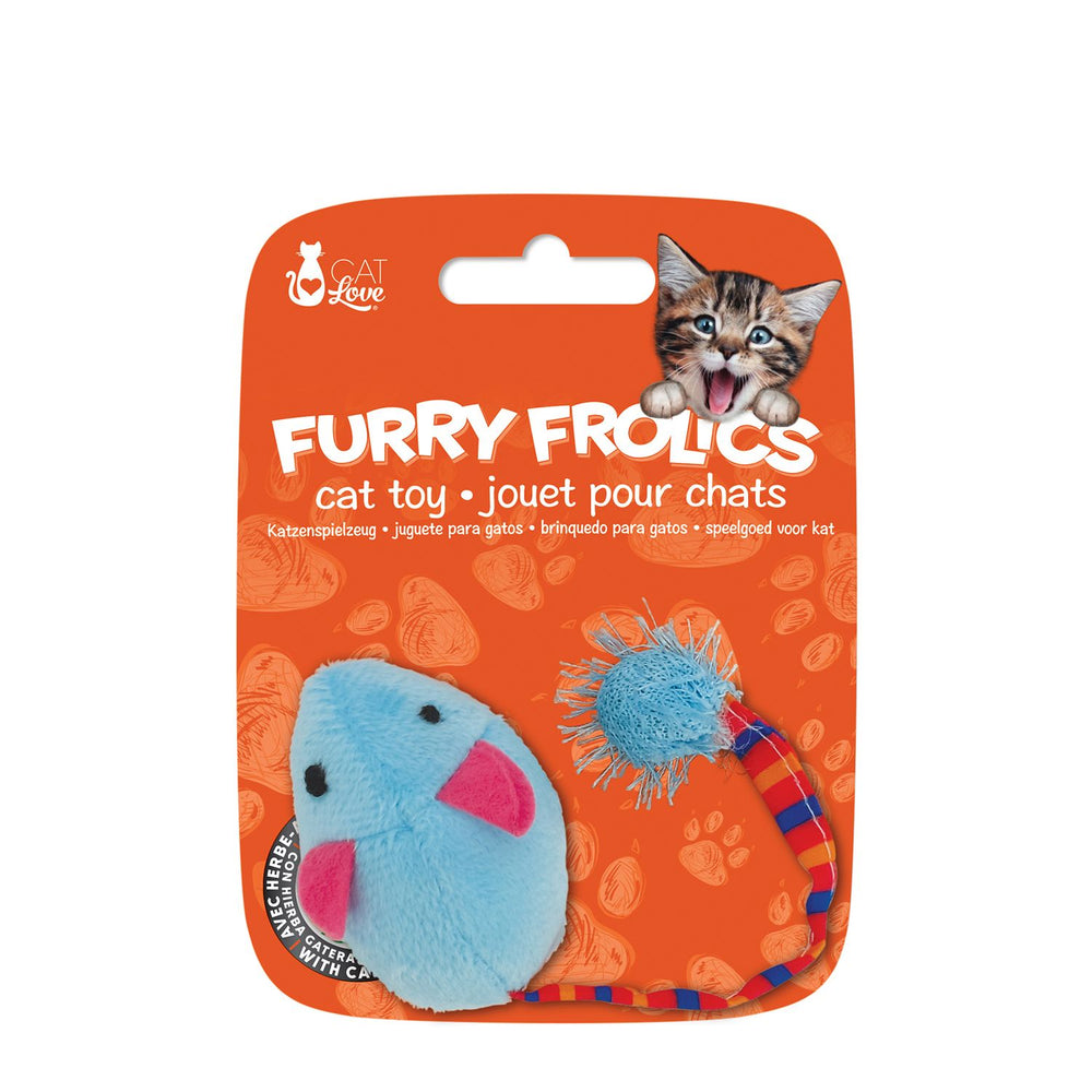 Furry Frolics Blue Mouse