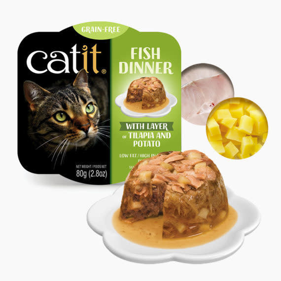 Catit Fish Dinner with Tilapia & Potato