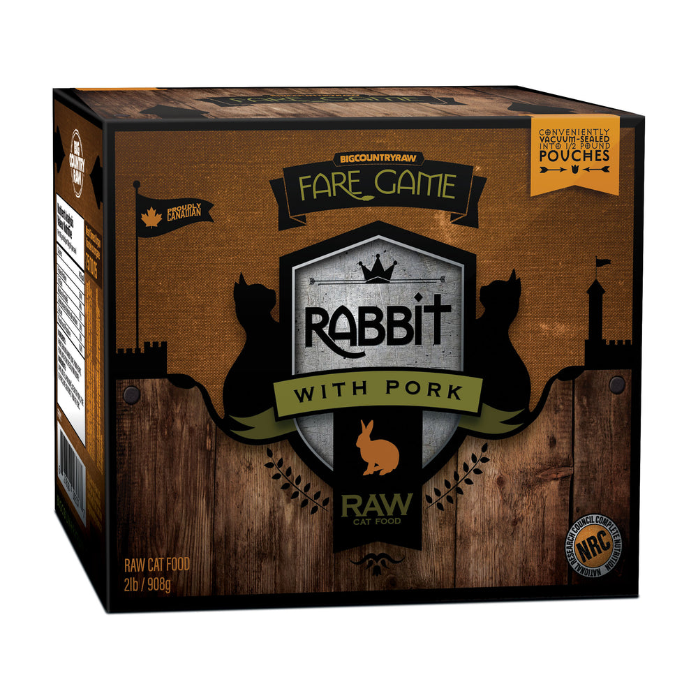 Big Country Raw Fare Game Rabbit & Pork for Cats