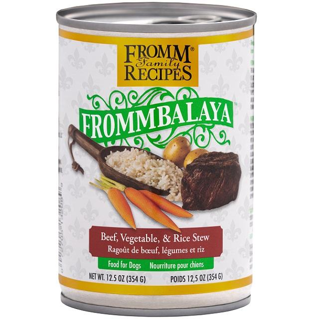 Fromm Recipes Frommbalaya Beef, Veg & Rice Stew