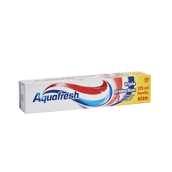 Aquafresh Toothpaste 125Ml Triple Protect <br> Pack size: 12 x 125ml <br> Product code: 281371