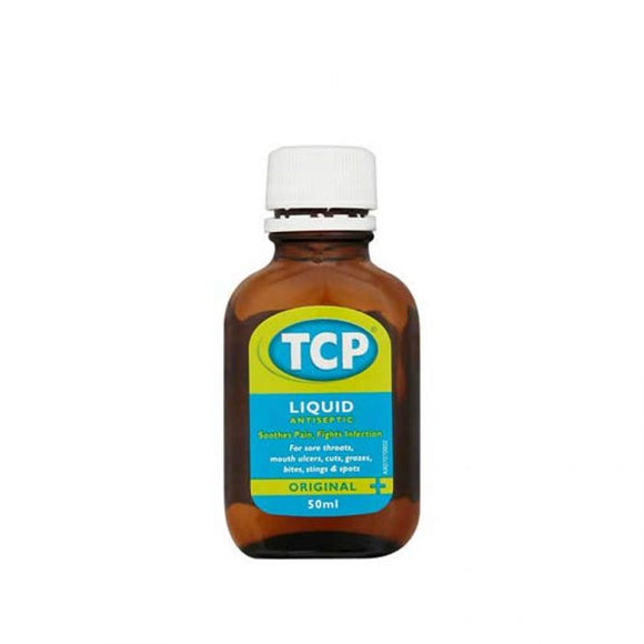 Tcp Liquid Antiseptic 50Ml <br> Pack size: 12 x 50ml <br> Product code: 136970