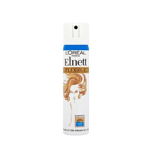 L'Oreal Elnett Hair Spray Flexible Extra 75Ml <br> Pack size: 6 x 75ml <br> Product code: 163050