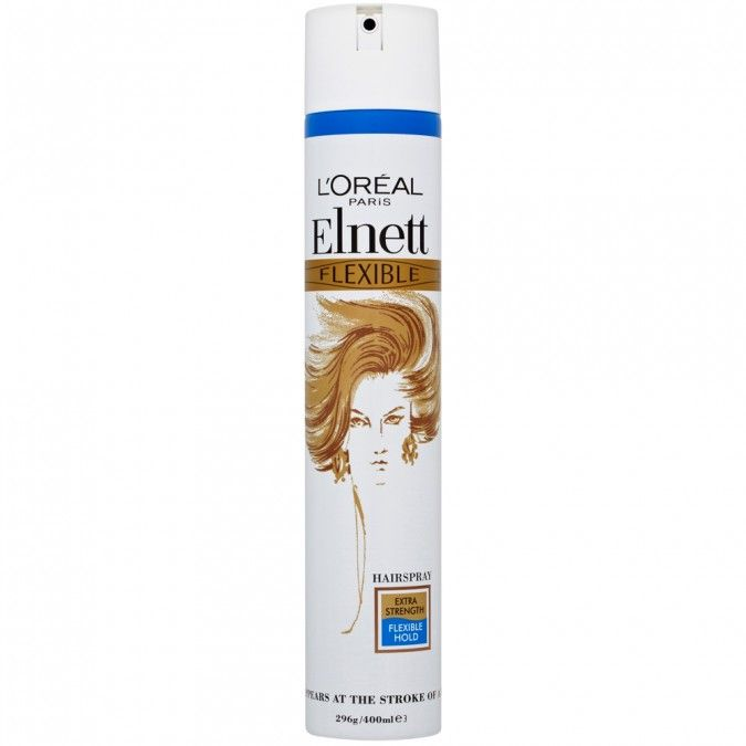 L'Oreal Elnett Hair Spray Flexible Extra 400Ml <br> Pack Size: 6 x 400ml <br> Product code: 163290