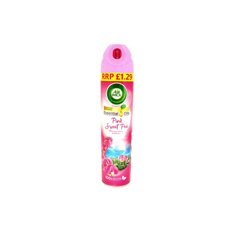 Air Wick Air Freshener Pink Sweet Pea 240ml (PM £1.29) <br> Pack size: 6 x 240ml <br> Product code: 545548