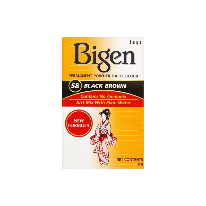Bigen Hair Care 58 Black Brown <br> Pack Size: 1 x 1 <br> Product code: 200350