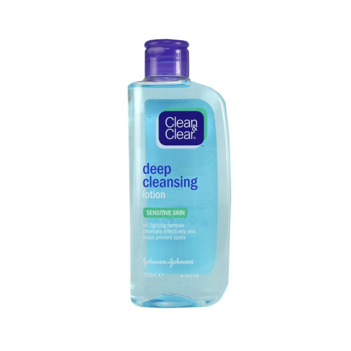 Clean & Clear Cleansing Lotion Sensitive 200Ml <br> Pack size: 6 x 200ml <br> Product code: 222140