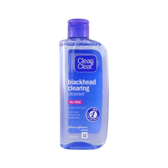 Clean & Clear Blackhead Cleanser 200Ml <br> Pack size: 6 x 200ml <br> Product code: 222201