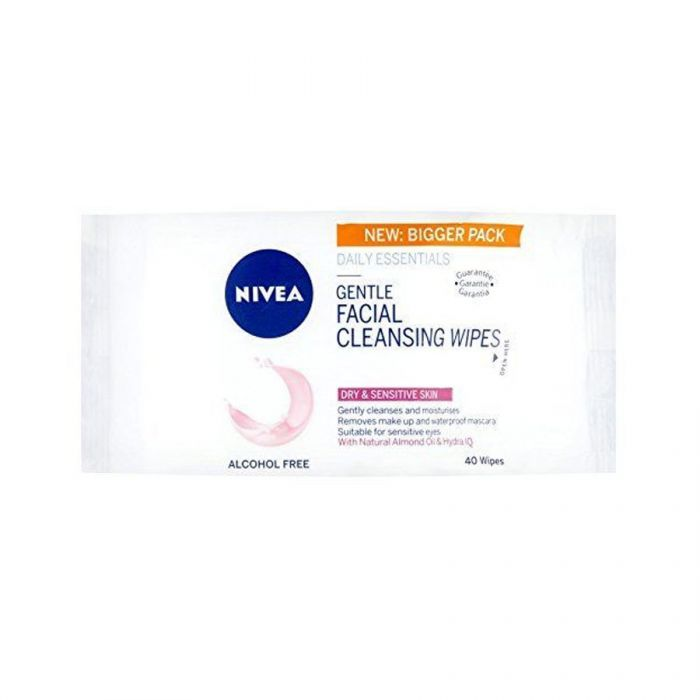 Nivea Gentle Face Cleansing Wipes Sensitive 40S <br> Pack size: 4 x 40s <br> Product code: 224851