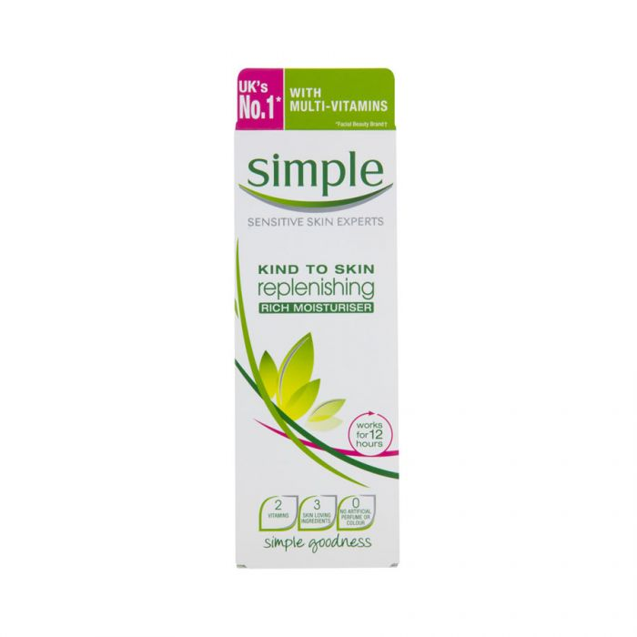 Simple Replenishing Rich Moisturiser 125Ml <br> Pack size: 6 x 125ml <br> Product code: 226310