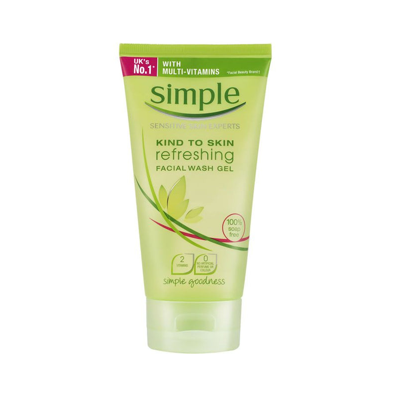 Simple Kind To Skin Refreshing Facial Wash Gel 150Ml <br> Pack Size: 6 x 150ml <br> Product code: 226330