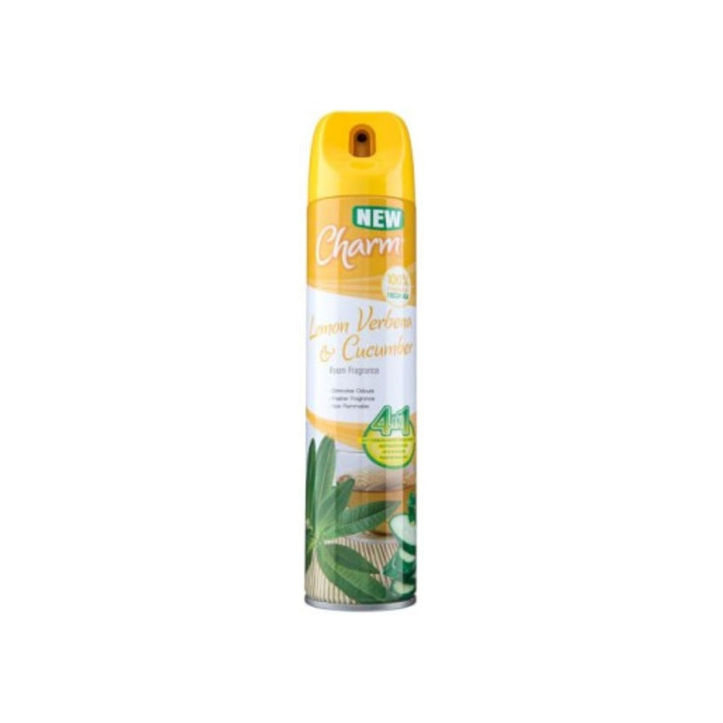 Charm Room Fragrance Lemon Verbena & Cucumber 240ml  <br> Pack size: 12 x 240ml <br> Product code: 543150