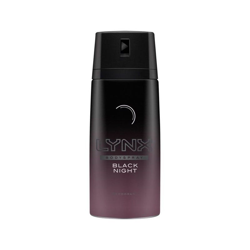 Lynx Body Spray Black Night 150Ml <br> Pack Size: 6 x 150ml <br> Product code: 272873