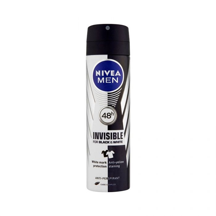 Nivea Mens Deodorant Black & White 150Ml <br> Pack size: 6 x 150ml <br> Product code: 273881