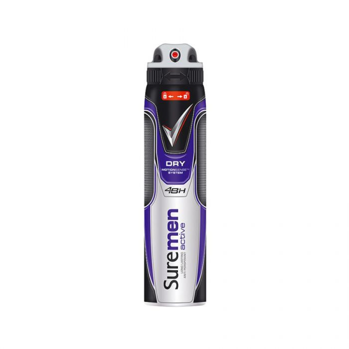 Sure Aerosol Anti-Perspirant Mens Active <br> Pack size: 6 x 150ml <br> Product code: 275570