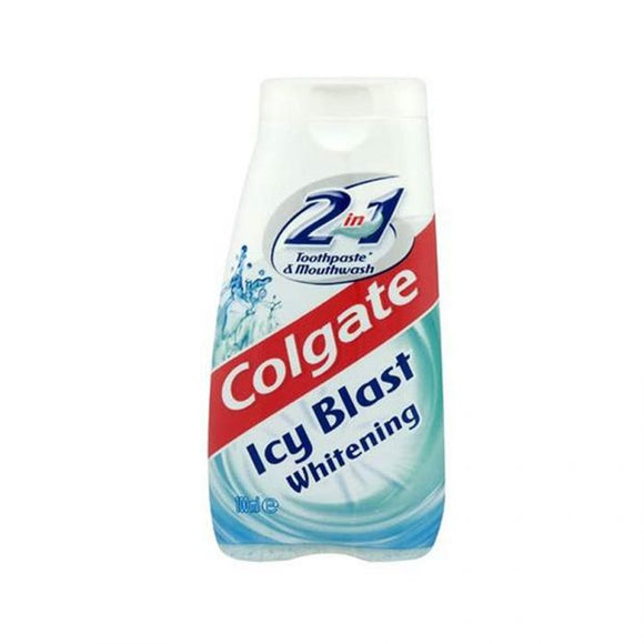 Colgate 2In1 Icy Blast Whitening Toothpaste & Mouthwash 100Ml <br> Pack size: 12 x 100ml <br> Product code: 282858