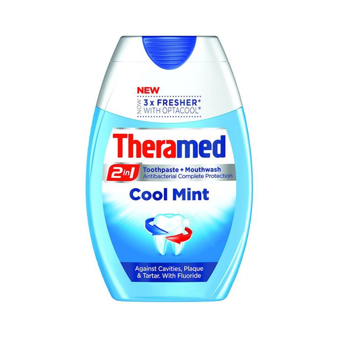Theramed 2In1 Toothpaste Cool Mint 75Ml <br> Pack size: 12 x 75ml <br> Product code: 287350