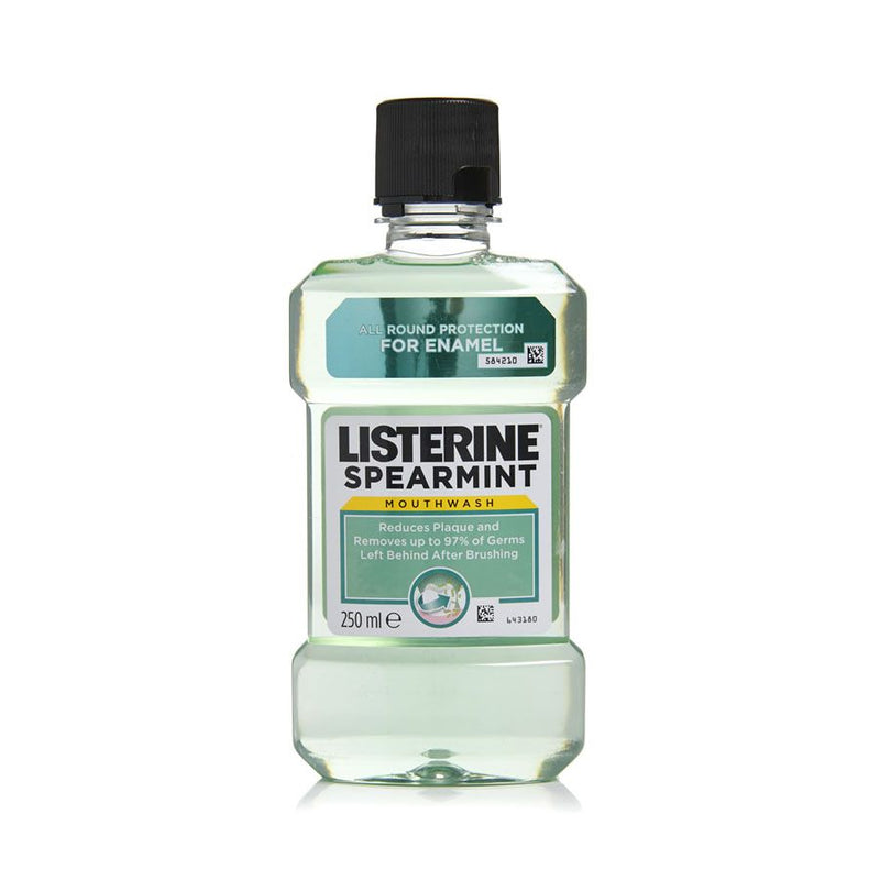 Listerine Mouthwash Spearmint 250Ml <br> Pack Size: 6 x 250ml <br> Product code: 294734