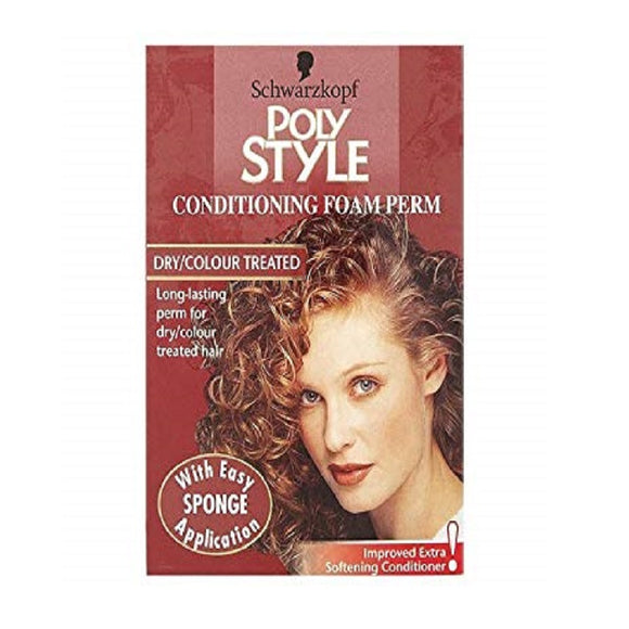 Schwarzkopf Poly Style Foam Perm Dry/Colour Treated <br> Pack size: 3 x 1 <br> Product code: 195160