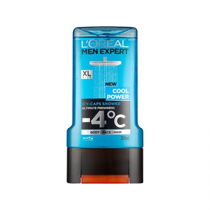 L'Oreal Mens Shower Gel Cool Power 300Ml <br> Pack size: 6 x 300ml <br> Product code: 312897