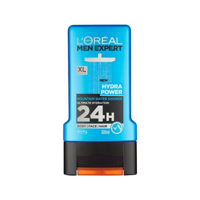 L'Oreal Mens Shower Gel Hydra Power 300Ml <br> Pack size: 6 x 300ml <br> Product code: 312899