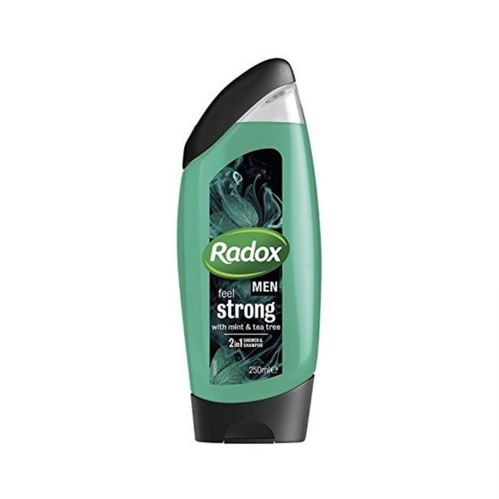 Radox Mens Shower Gel Feel Strong 250Ml <br> Pack size: 6 x 250ml <br> Product code: 316612