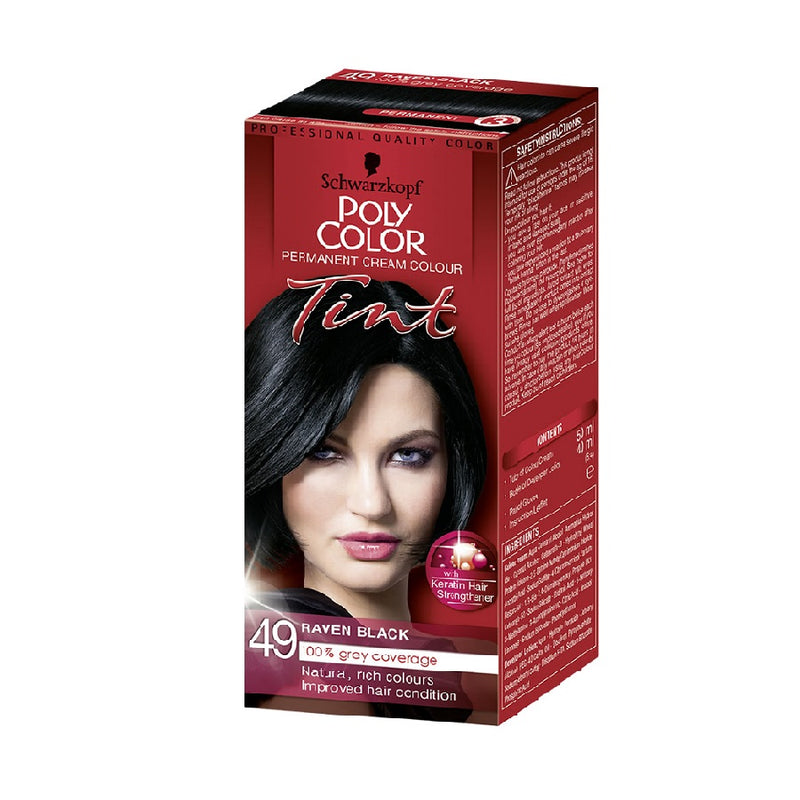 Schwarzkopf Poly Colour Tint 49 Raven Black <br> Pack size: 3 x 1 <br> Product code: 204380