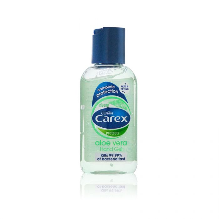 Carex Hand Gel Aloe Vera 50Ml <br> Pack size: 12 x 50ml <br> Product code: 332341