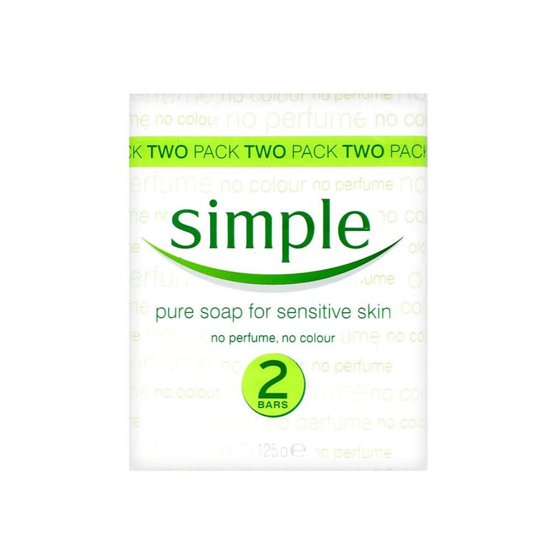 Simple Bath Soap Twin Pack 125G <br> Pack Size: 24 x 125g <br> Product code: 336110