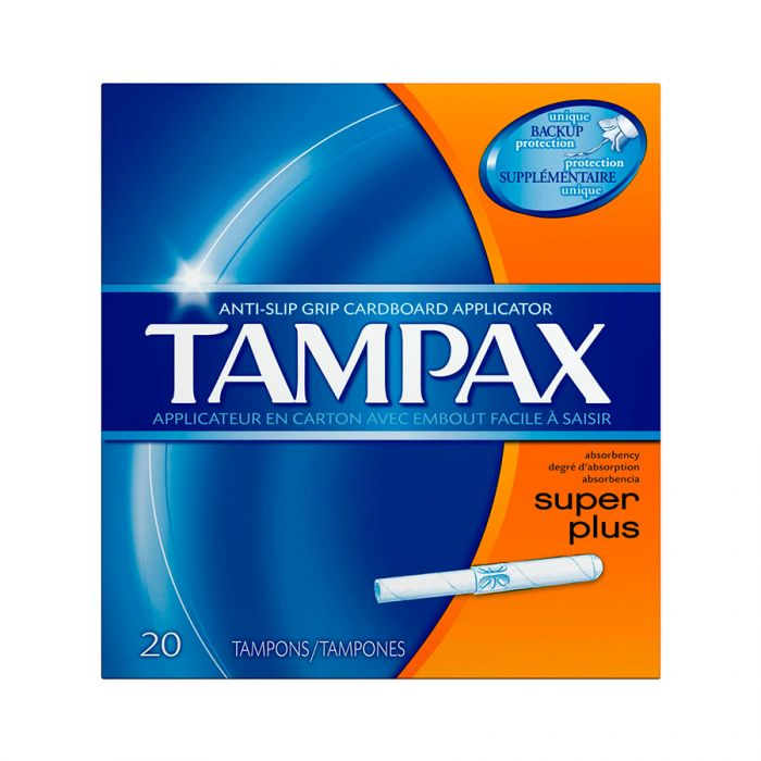 Tampax Super Plus 20S <br> Pack size: 8 x 20s <br> Product code: 346201