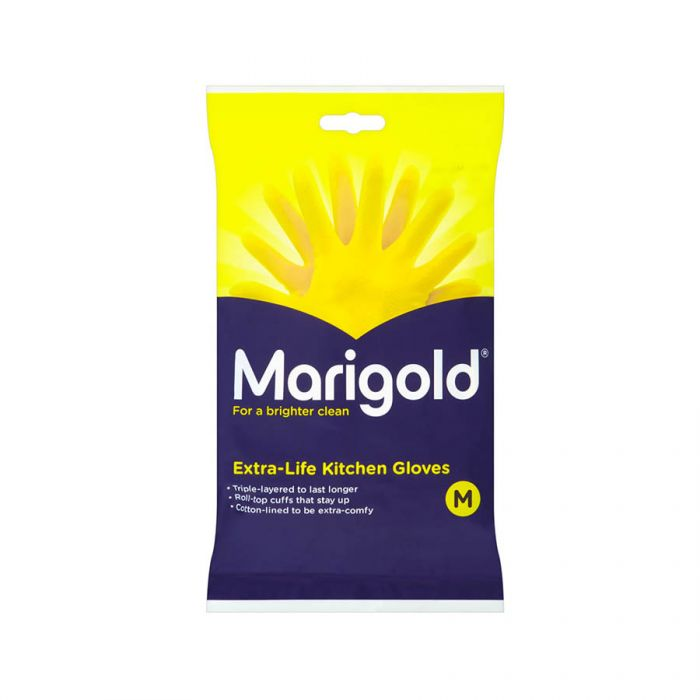 Marigold Extra Life Kitchen Gloves Medium <br> Pack size: 6 x 1 <br> Product code: 352060