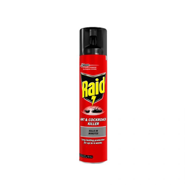 Raid Ant And Cockroach Killer Spray 300Ml <br> Pack size: 6 x 300ml <br> Product code: 364200