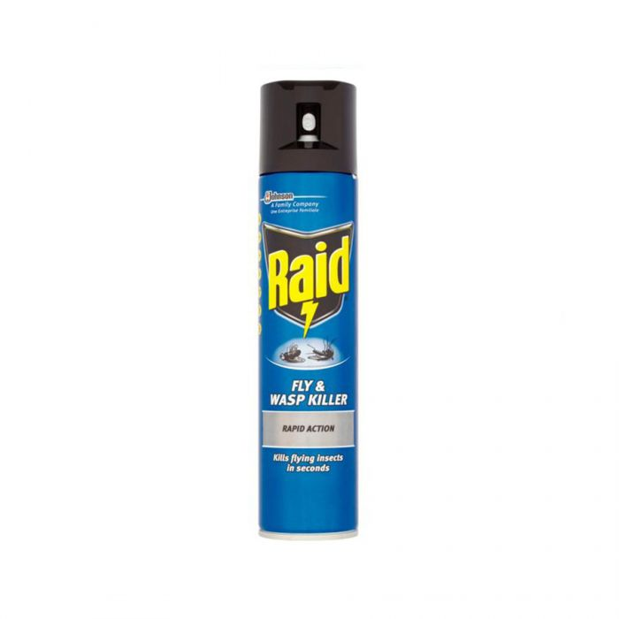 Raid Fly And Wasp Killer Spray 300Ml <br> Pack size: 6 x 300ml <br> Product code: 364250