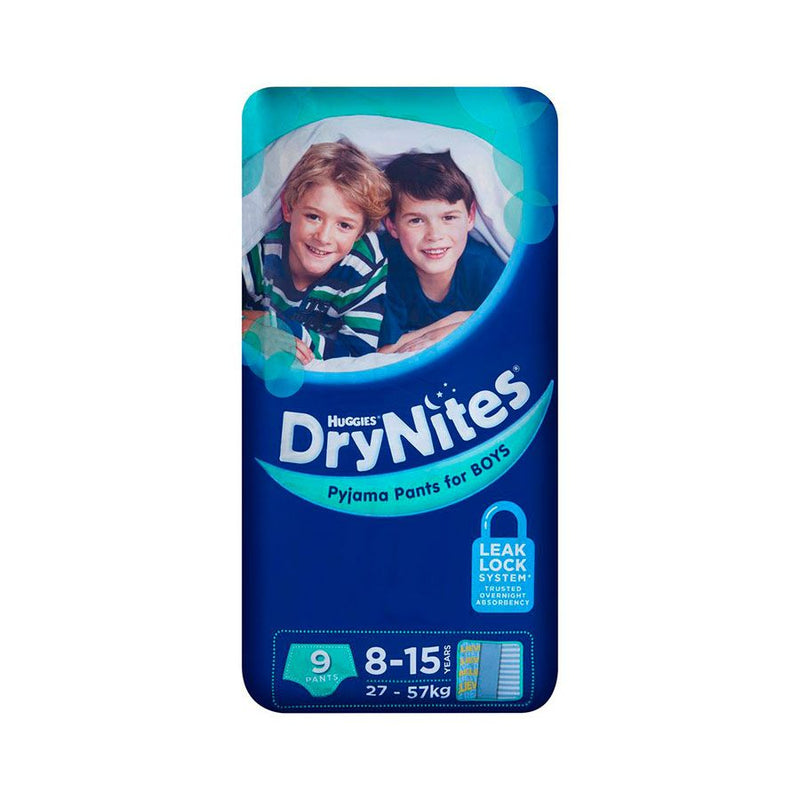Huggies Dry Nites Boy 8To15 Yrs <br> Pack Size: 3 x 9s <br> Product code: 382711