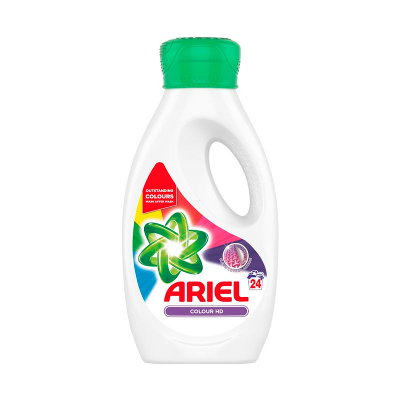 Ariel Colour Washing Liquid 24 Washes 840ml <br> Pack size: 4 x 840ml <br> Product code: 481677