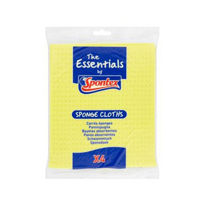 Spontex Sponge Cloth 4S <br> Pack size: 12 x 4 <br> Product code: 496750